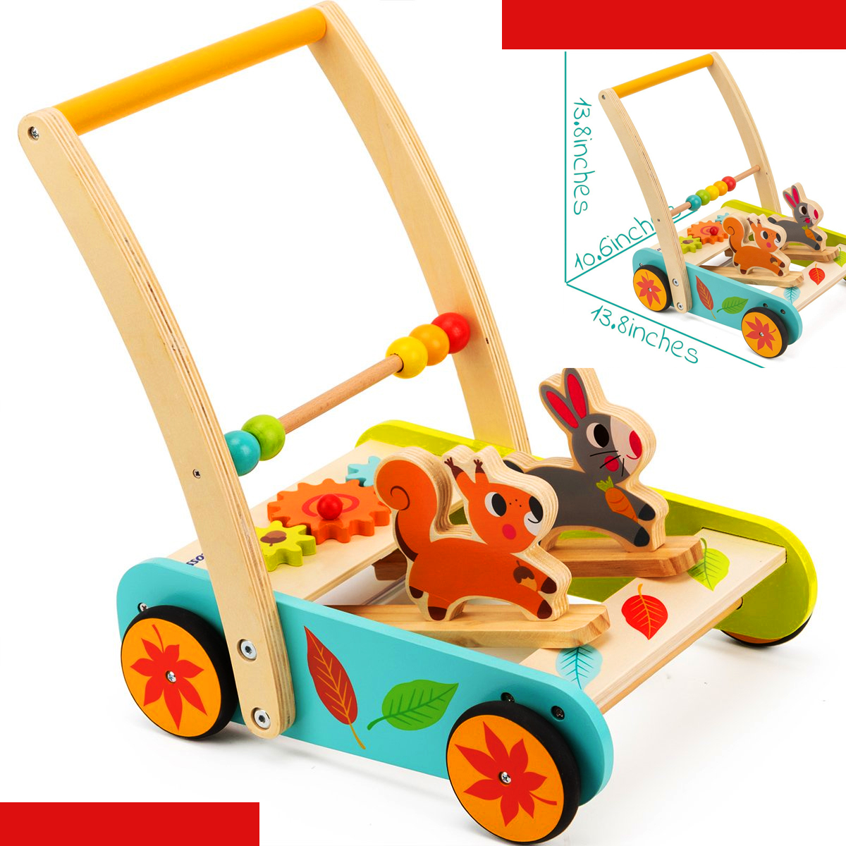 Cossy Wooden Rabbit and roll baby walker